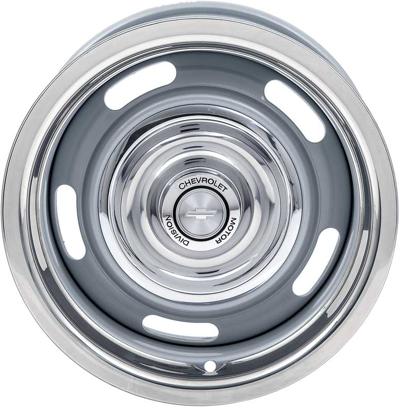15 X 7 Rally Wheel Kit with Chevrolet Motor Division Caps