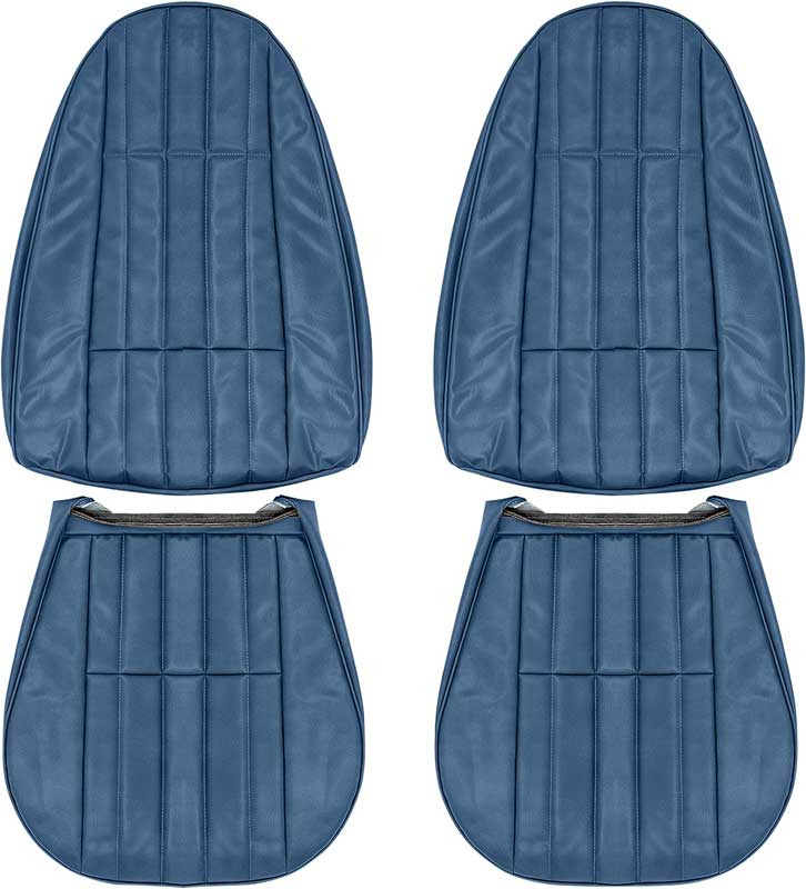 1980-81 Camaro Standard Light Saddle Vinyl Zipper Back Full Set Upholstery