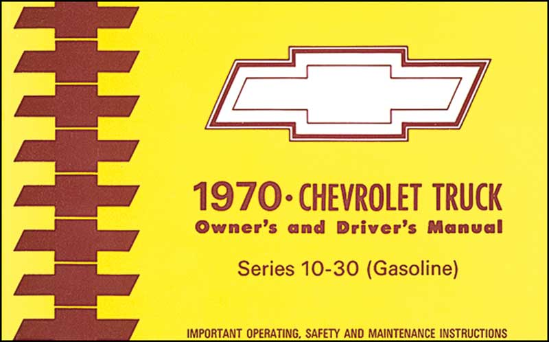 1971 Chevrolet Series 10-30 Truck Owner'S Manual