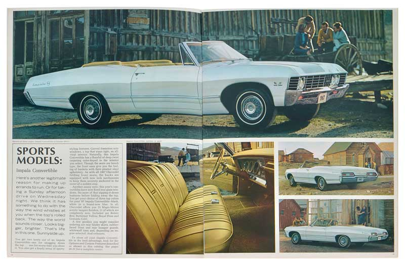 1967 Chevrolet Full-Size Sales Brochure - NOS (New Old Stock) GM
