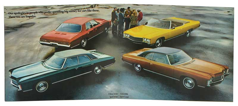 1971 Chevrolet Full-Size Sales Brochure - NOS (New Old Stock) GM