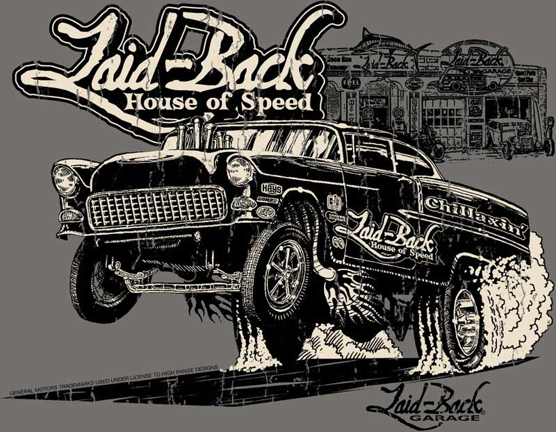 Laid-Back 55 Gasser T-shirt - Grey - Xx-Large
