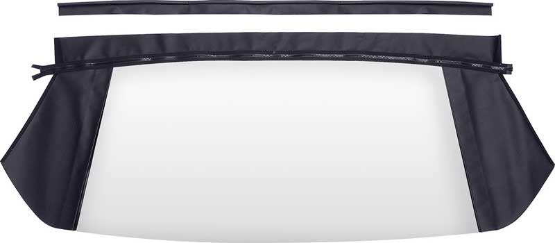 1963-64 Dodge Dart GT Plastic Convertible Rear Window With Black Pinpoint Vinyl