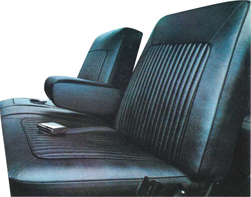 1967 Barracuda Metallic Navy Viynl Front Split Bench Seat Upholstery