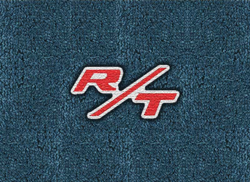 1967 Dodge Coronet With 4-Speed Dark Blue Loop Floor Mats With Embroidered R/T Logo