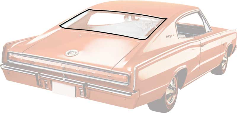 1966-67 Charger Without Vinyl Roof Rear Window Weatherstrip
