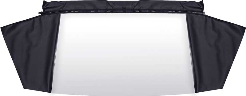 1967-70 Mopar B-Body Plastic Convertible Rear Window With Black Pinpoint Vinyl