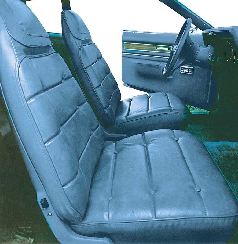 1974 Charger / Satellite / Road Runner Lagoon Blue Vinyl Front Bucket Seat Upholstery