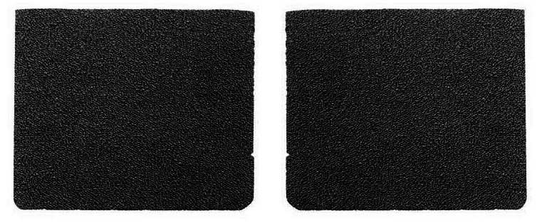 1966-67 Charger Black Carpet Rear Bucket Seat Back Panels