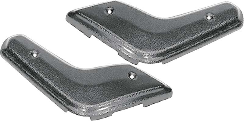1968-1970 Mopar A Or B-Body Black Bench Seat Hinge Covers