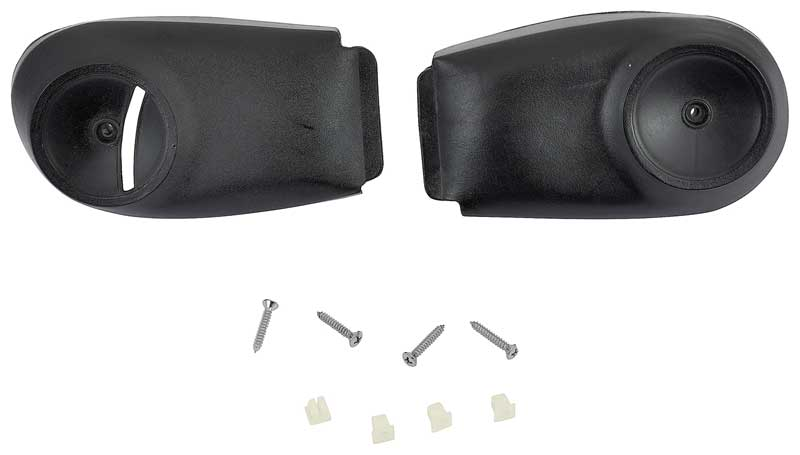 1973-76 A-Body White Bucket Seat Hinge Cover Set