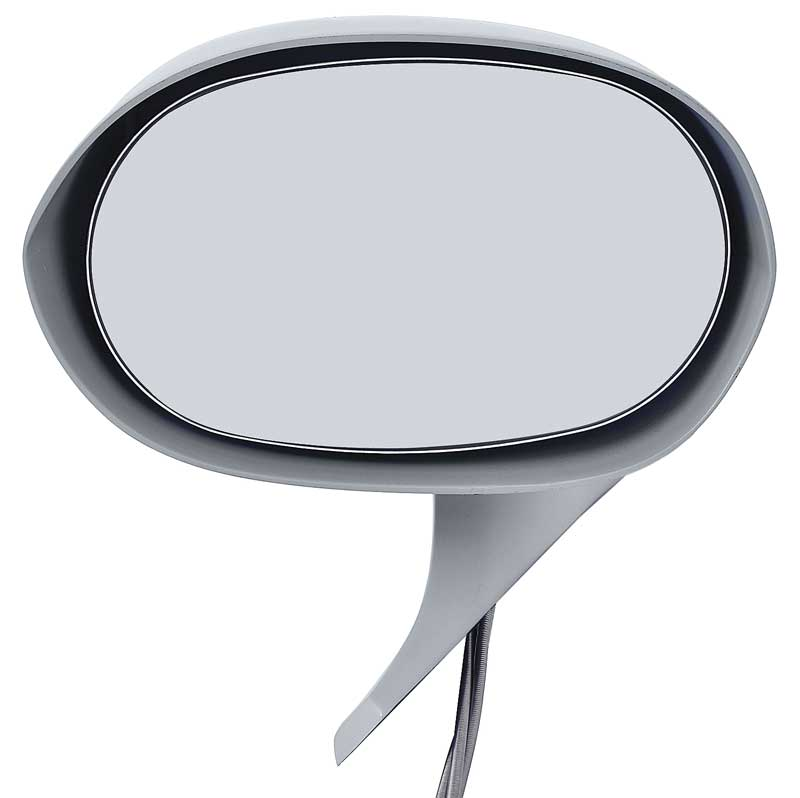 1971-74 B & E-Body Remote Outer Door Mirror; LH Remote Style