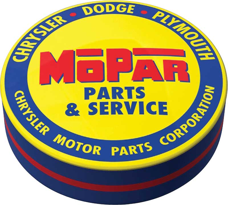 1948-53 Blue/Yellow Mopar parts And accessories Logo Counter Stool