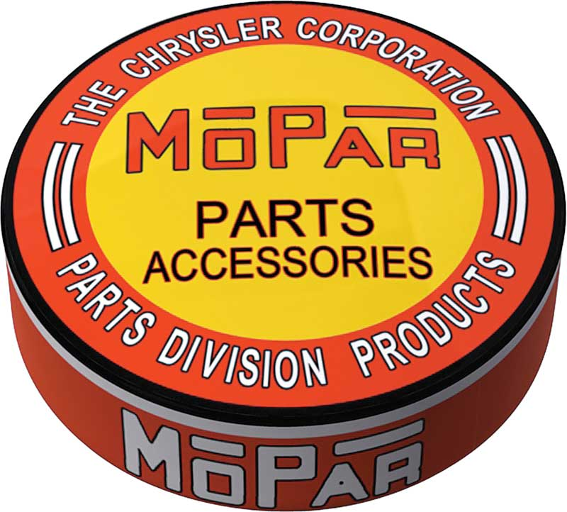 1948-53 Orange/Yellow Mopar parts And accessories Logo Counter Stool