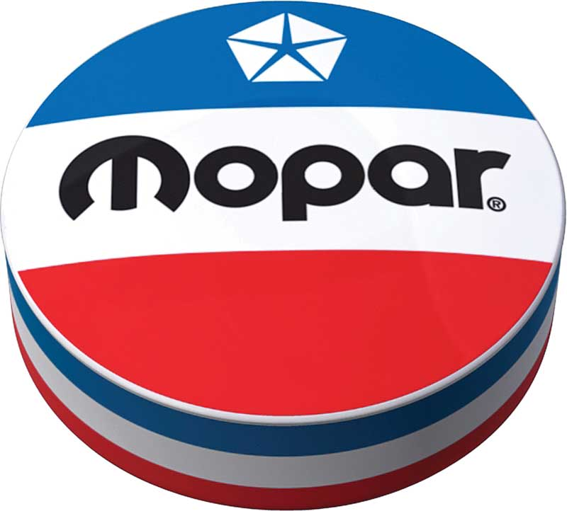 1972-84 Red White And Blue Mopar Logo Counter Stool