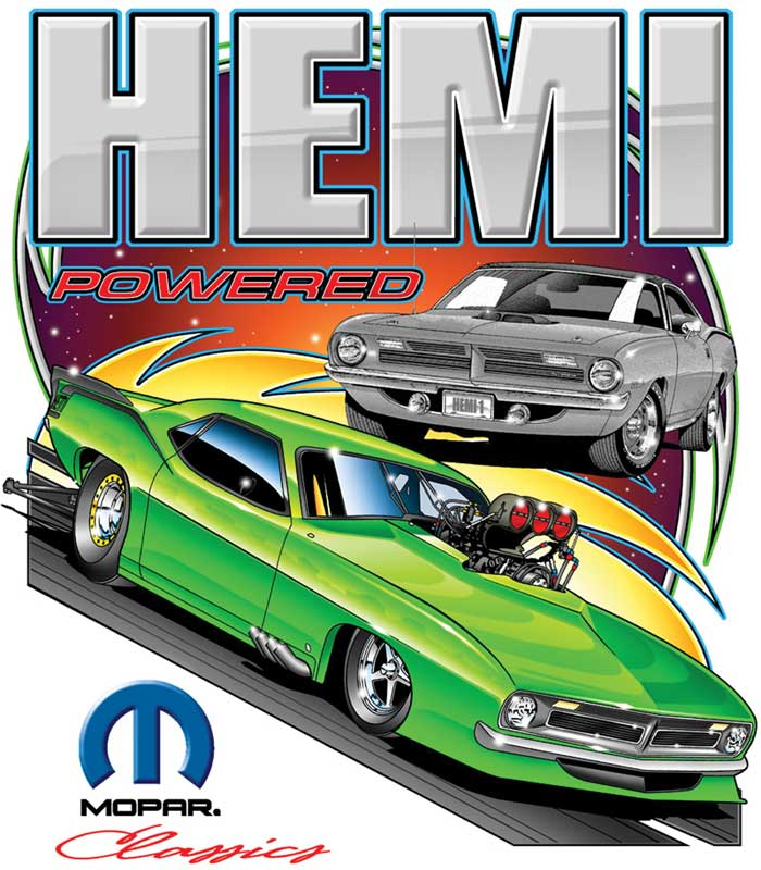 Mopar Hemi Powered Large White T-shirt