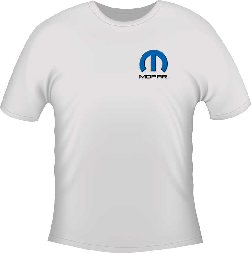 Mopar Evil Wicked Mean & Nasty Small White T-shirt