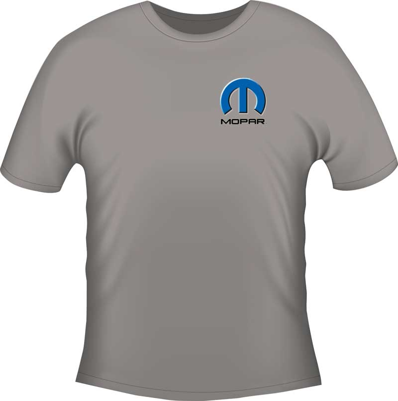 Mopar Hemi Powered Xxx-Large Gray T-shirt