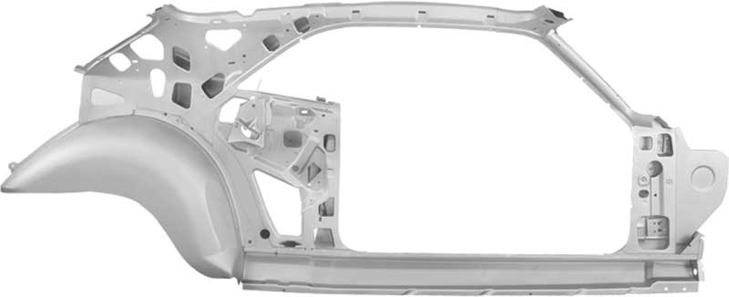 1970-74 DODGE CHALLENGER LEFT HAND (DRIVER SIDE) QUARTER PANEL / DOOR FRAME ASSEMBLY