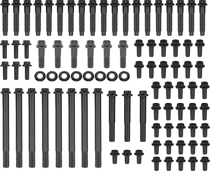 Mopar 318/340/360 Wedge ARP Black Oxide With Hex Head Engine / accessory Fastener Set