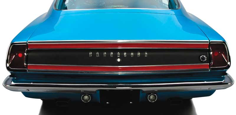 1969 PLYMOUTH BARRACUDA FORMULA S TRUNK TRIM FINISH PANEL