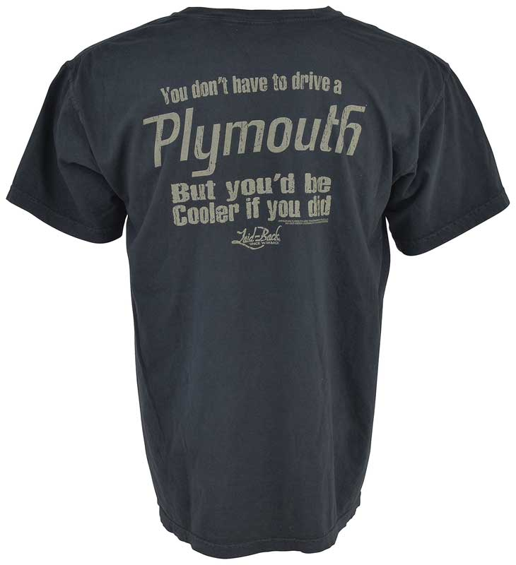 Laid-Back Cooler Plymouth T-shirt - Medium