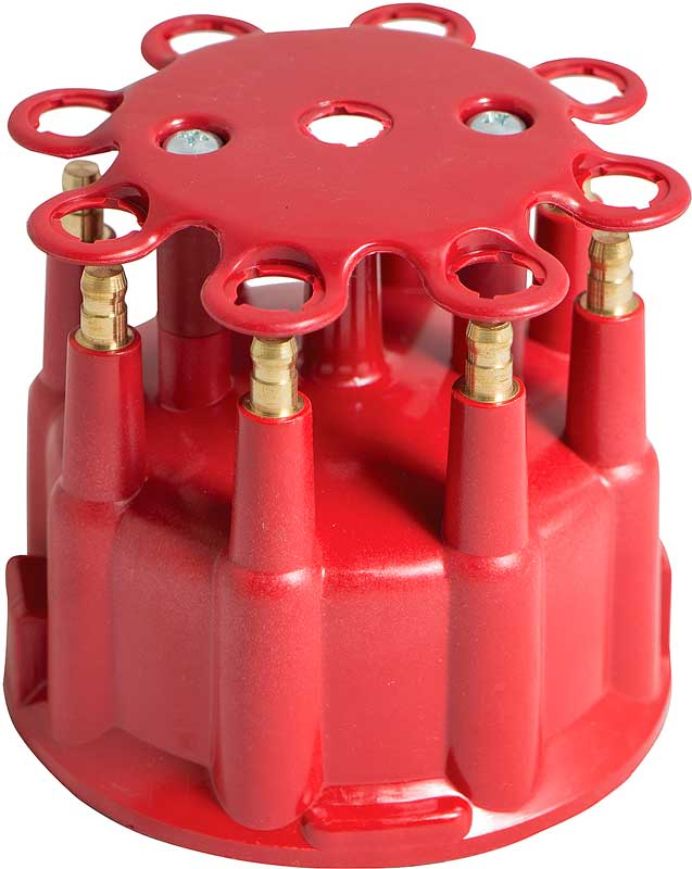 1960-76 Mopar V8 Pro-Billet/Ready-To-Run Distributor Cap & Rotor Set - Red