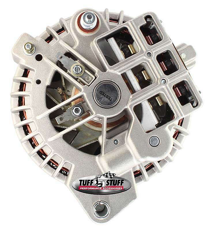 1961-85 Mopar Tuff Stuff Alternator 60 Amp Cast Finish 2 Grv