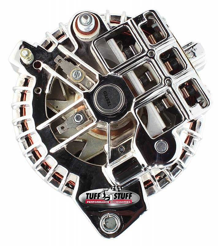 1961-85 Mopar Tuff Stuff Alternator 100 Amp Chrome 2 Grv 1 Wire