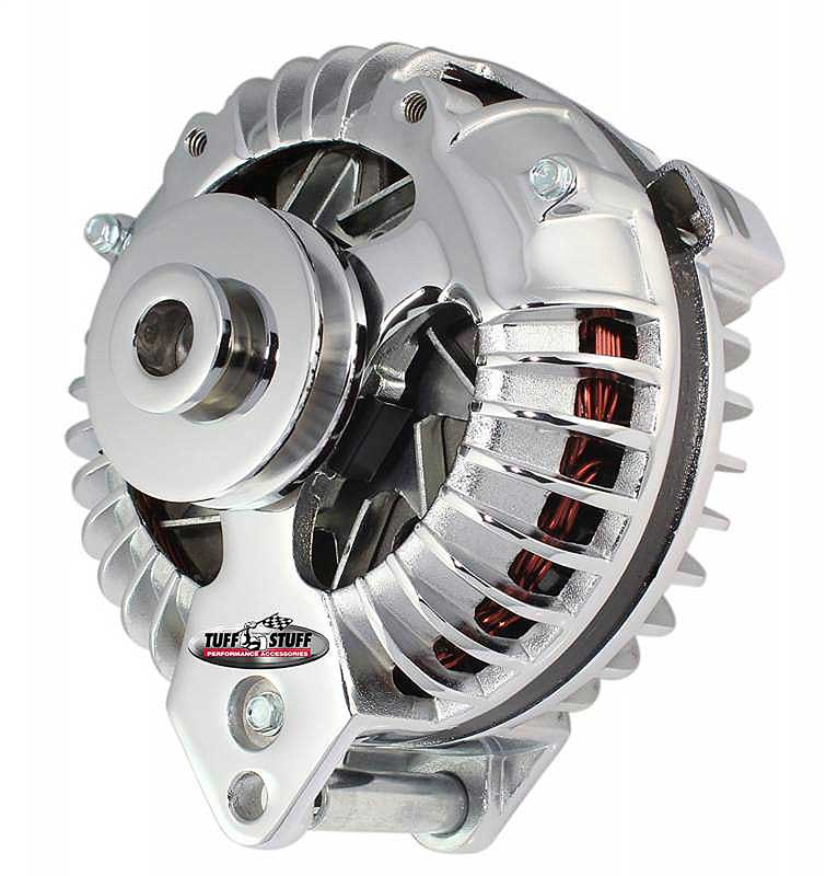 1961-85 Mopar Tuff Stuff Alternator 100 Amp Polishd 1 Groove OE Wire