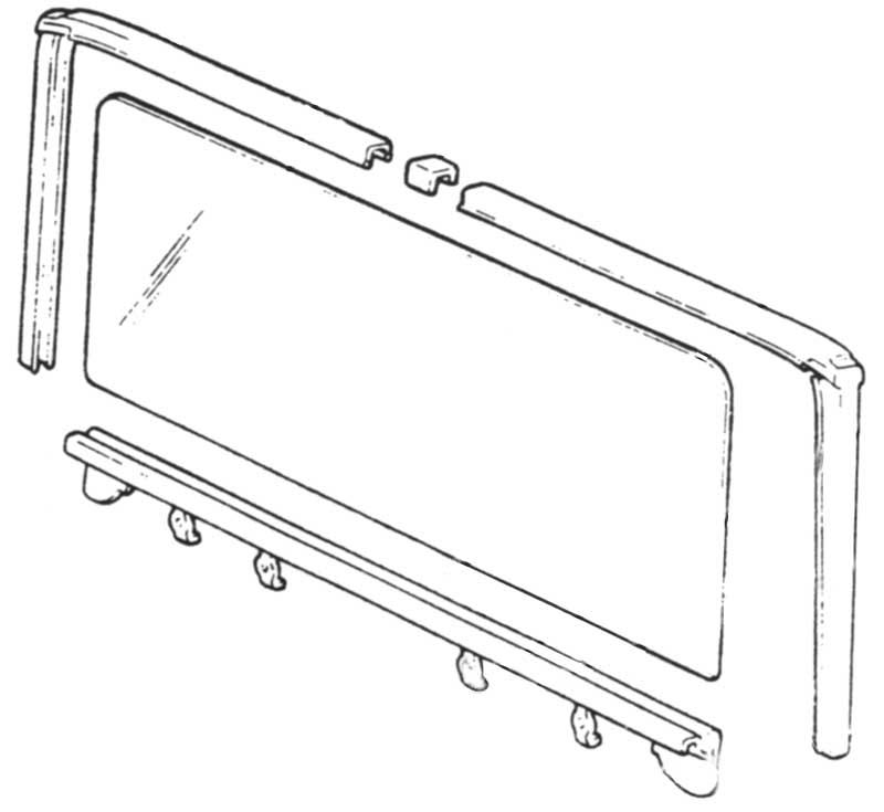 1962-67 Nova Wagon Tail Glass Channel