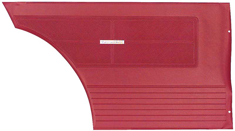 1963 Chevy II / Nova SS Non Assembled Inner Rear Side Panels (Red)