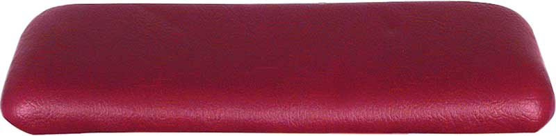 1963-64 Bel Air, 1962-64 Nova Red Vinyl Wrapped Rear Arm Rest Pad