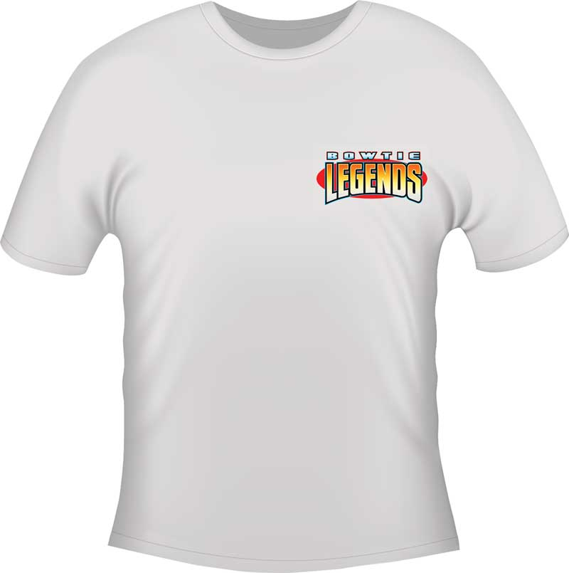 Nova Bow Tie Legends T-shirt - White - Small
