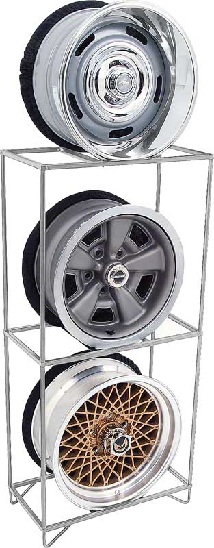 Wheel Display Storage Rack Chrome