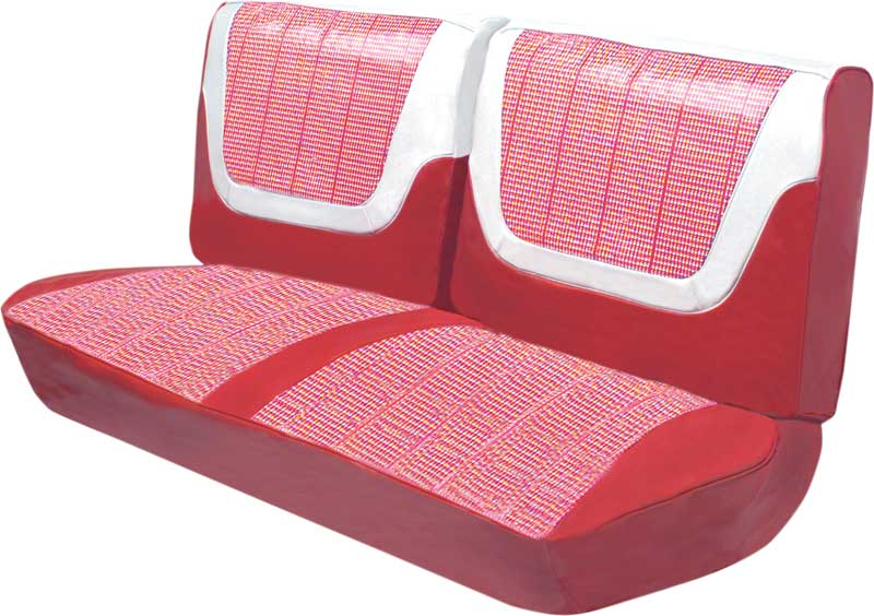 1960 Impala 2 Door Hard Top Red & White Houndstooth Cloth / Red & White Vinyl Upholstery Set