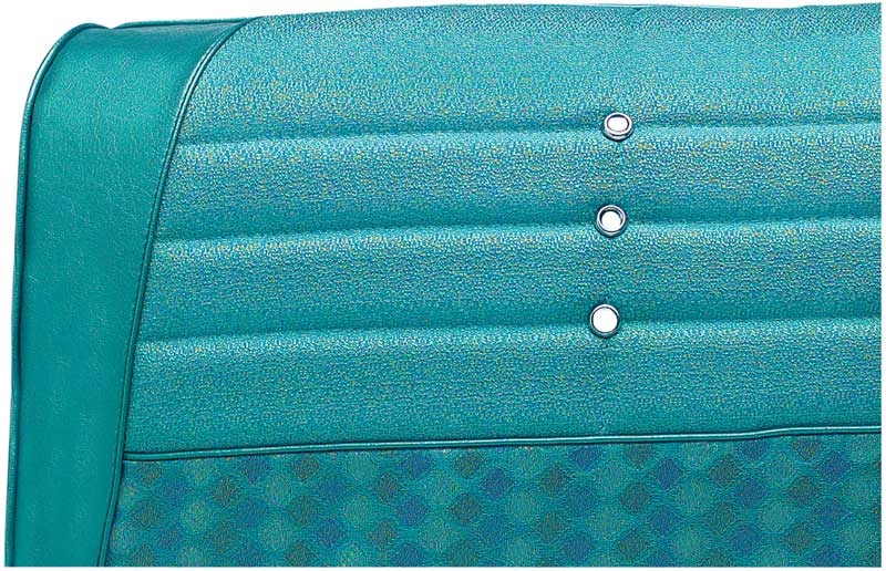 1964 Impala 2 Door Hardtop With Split Bench Light & Medium Aqua Cloth / Aqua Vinyl Upholstery Set