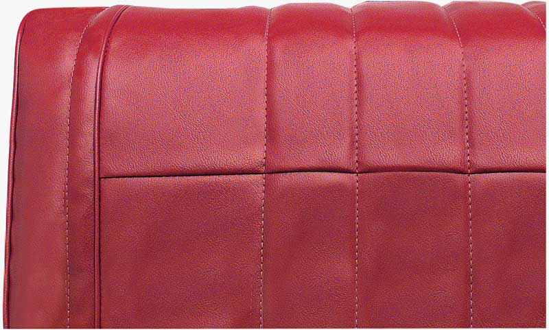 1965 Impala Convertible With Front Split Bench Red Vinyl Upholstery Set