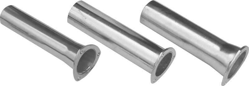 Pypes Polished Stainless Steel 3 Header Flange to 2.5 Pipe Reducer