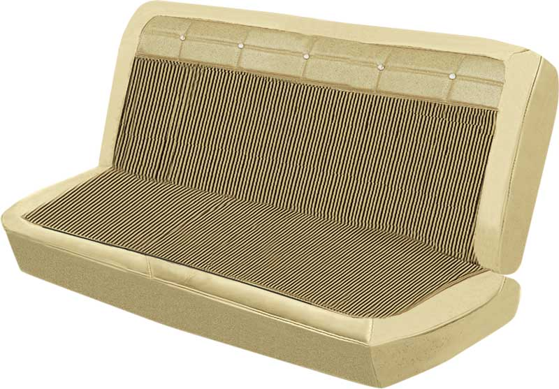 1962 Impala 4 Door Hardtop With Front Bench Seat Gold & Black Cloth / Gold Vinyl Upholstery Set