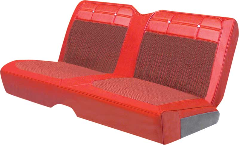1962 Impala SS Hardtop With Buckets Red/Black Pinstripe Vinyl Insert / Red Vinyl Upholstery Set
