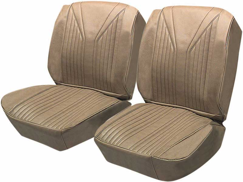 1965 Impala SS 2 Door Hardtop With Front Buckets Light Saddle Vinyl / Saddle Carpet Upholstery Set