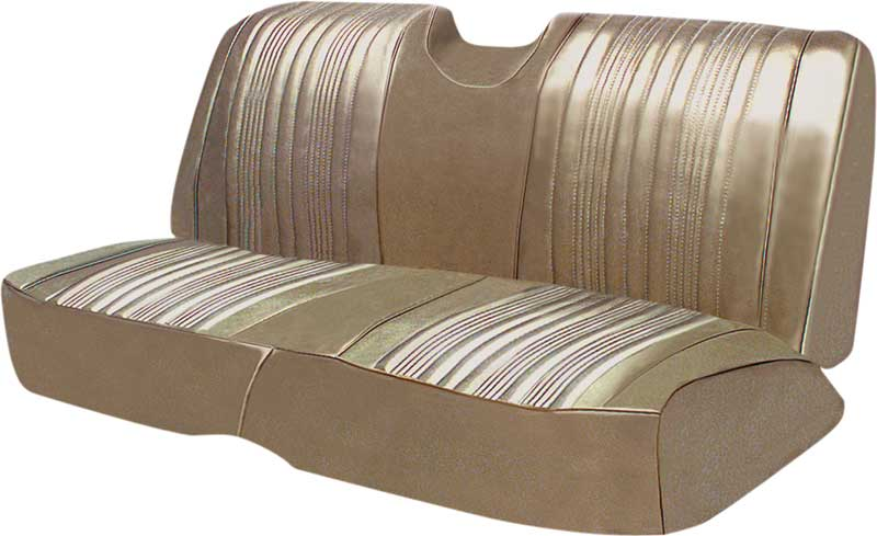 1967 Impala SS Convertible With Front Strato- Bench Gold Vinyl Upholstery Set