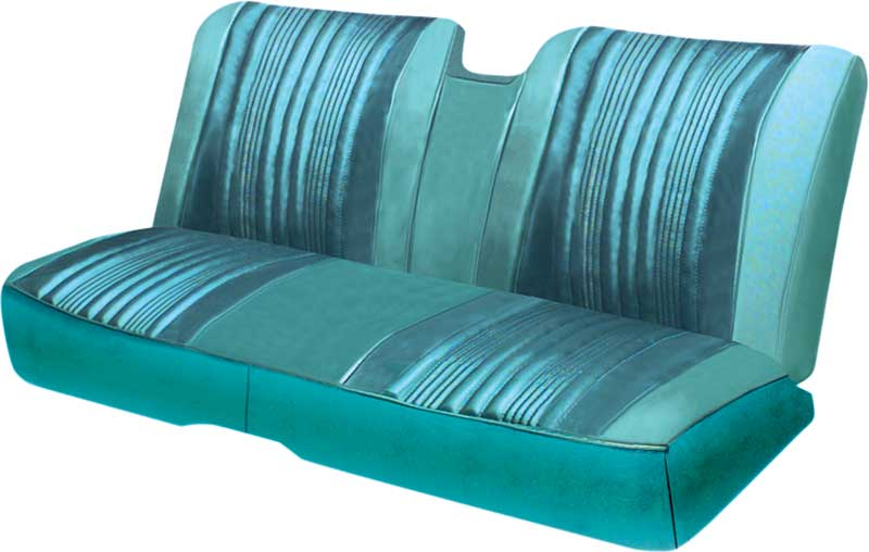 1967 Impala 2 Door Hardtop With Split Bench Light Aqua/Turquoise Vinyl Upholstery Set