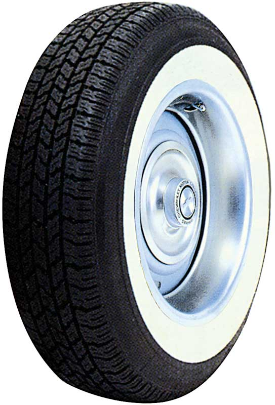 P205/75R14W Classic Wide Whitewall Radial Tire