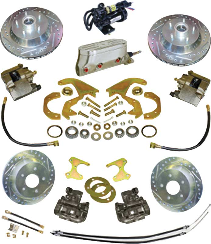 1955-64 Chevrolet Electronic Front and Rear Disc Brake System with 10-3/4 Slotted Rotors