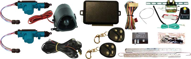 Universal Power Door Lock and Trunk Release Conversion Set with Alarm