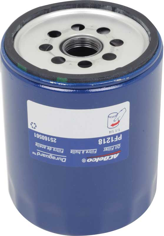 Chevy BB AC Delco Professional Series Blue PF1218 Oil Filter - Modern Specs & Color