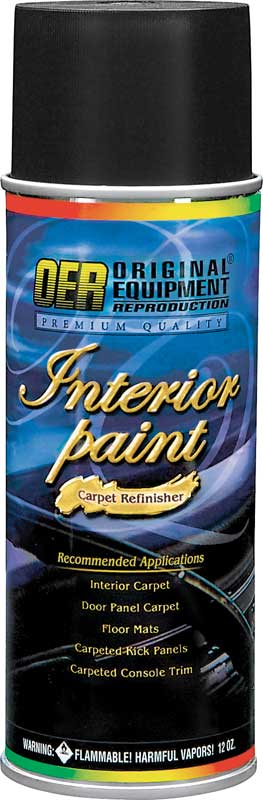 OER® Black Restoration Carpet Dye - 12 Oz Aerosol Can