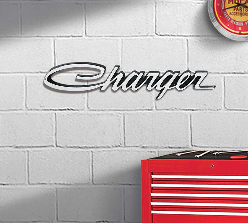 22 X 4 Charger Metal Sign